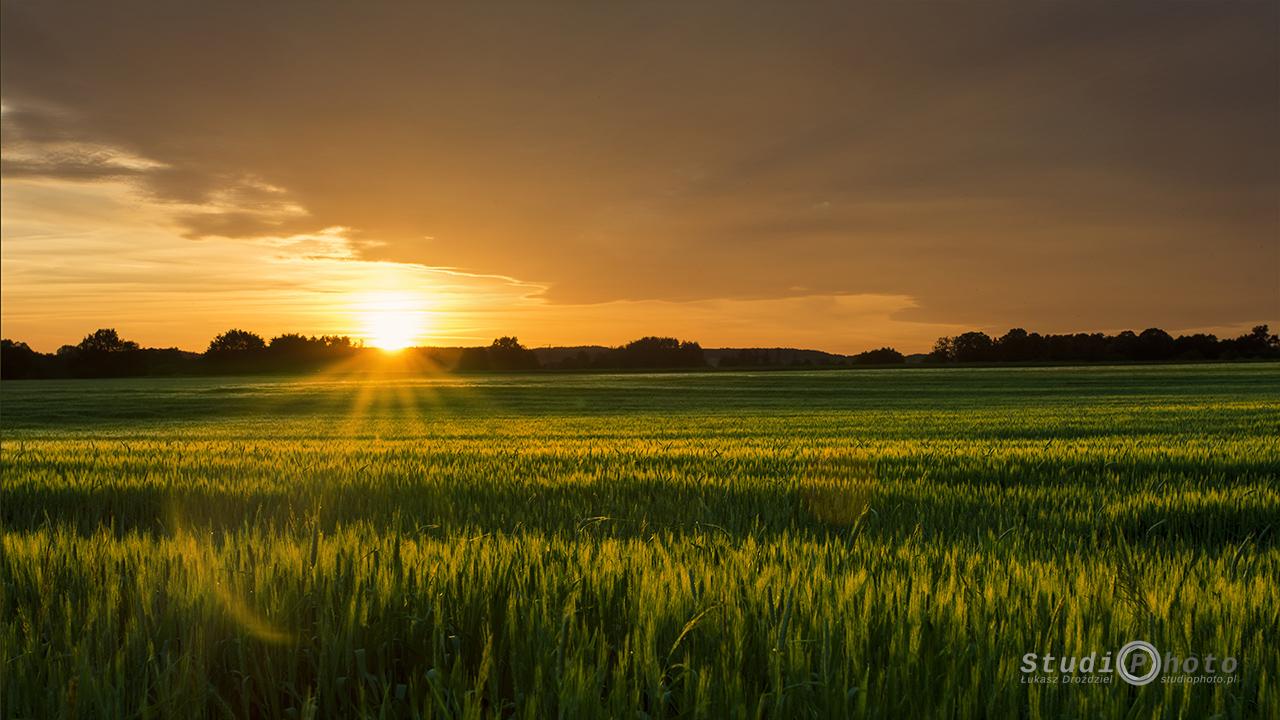 Boryszyn, zachód słońca