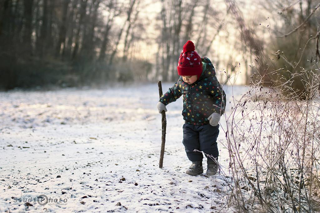 Zimowa sesja w plenerze